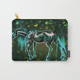 Teal Love Horse Carry-All Pouch