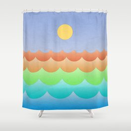 The Sea In My Dreams Shower Curtain