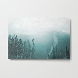 Wintry Mountain Metal Print