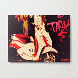 City Scooter-Color Metal Print