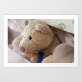 teddy bear gift Art Print