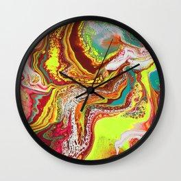 Lemon Geode Wall Clock