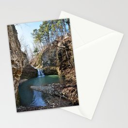 Alone in Secret Hollow with the Caves, Cascades, and Critters - Approaching the Falls, 2 of 2 Stationery Cards