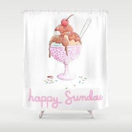 Happy Sundae Shower Curtain