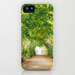 in green summer light iPhone Case