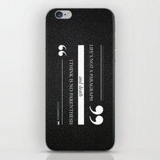 Parenthesis iPhone & iPod Skin