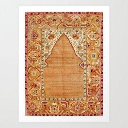Transylvanian West Anatolian Niche Carpet Print Art Print