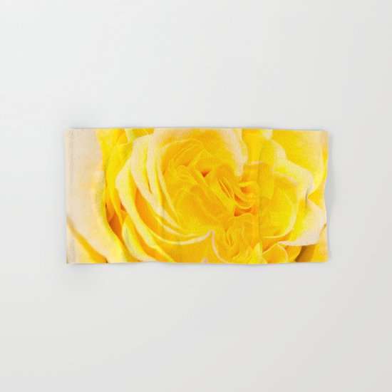 A Touch of Yellow #Rose #1 #art #society6 Hand & Bath Towel