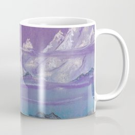 Himalayas. Pink mountains. Сopy of the painting of Roerich. Coffee Mug