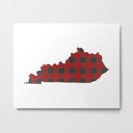 Kentucky Plaid in Red Metal Print