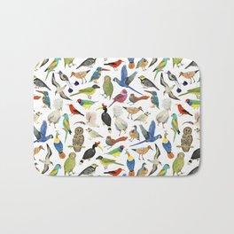 Endangered Birds Around the World Bath Mat