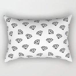 Black and white version of diamond Rectangular Pillow