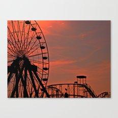 Sundown in Fun Town Canvas Print