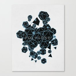 Polygon Polygone - Blue Canvas Print