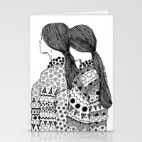 twins Stationery Cards featuring Twins by La Thai