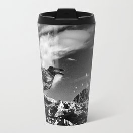 Raven and Clouds Travel Mug