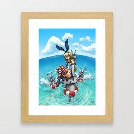 Shimakaze in the Sea Framed Art Print