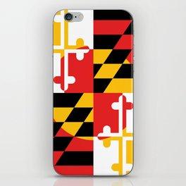 Maryland State Flag Art Print iPhone Skin