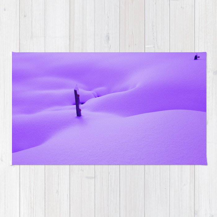 Purple Snow Rug