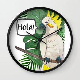 Campeche Cockatoo Wall Clock