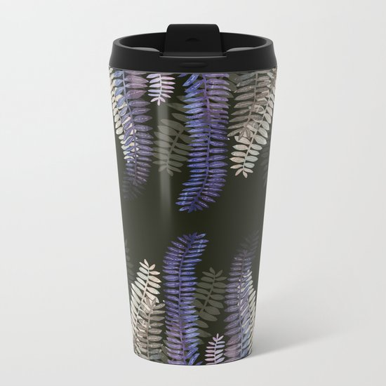 nature black Metal Travel Mug
