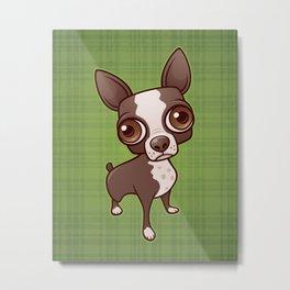 Zippy the Boston Terrier Metal Print