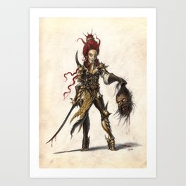 Red Sonja Art Print