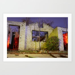 House on Fire Art Print