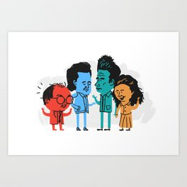 The Fab 4 Art Print