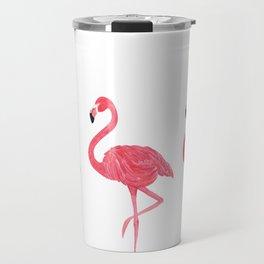 Flamingo tropical dance Travel Mug