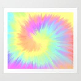 Bright Tie Dye Art Print
