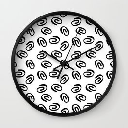Paper clips Wall Clock