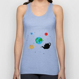 Russell's Teapot Atheism No God T-Shirt Unisex Tank Top