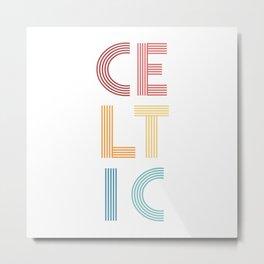 Celtic  TShirt Music Shirt Instrument Gift Idea Metal Print