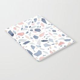 Terrazzo vintage pastel blue pink Notebook