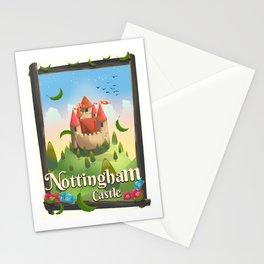 Nottingham Castle Travel poster Stationery Cards