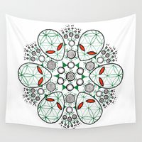 et Wall Tapestries featuring ET Mandala by eyebeka