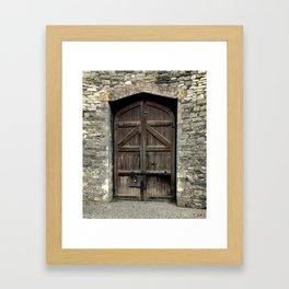 Old Wooden Door | Doors | Ireland | Kilmainham Gaol Door Framed Art Print