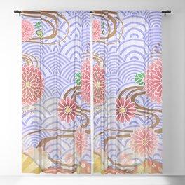 Japanese Pattern Sheer Curtain