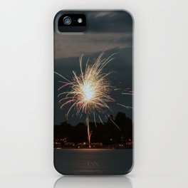 Fireworks Over Lake 30 iPhone Case