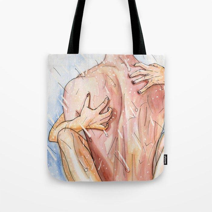 shower sex Tote Bag