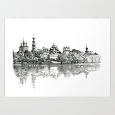 Novodevichy Convent G2010-005 Art Print
