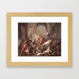 Jean-Marc Nattier - Perseus with Minerva Showing the Head of Medusa Framed Art Print