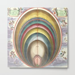 Harmonia Macrocosmica The Size of Celestial Bodies Metal Print