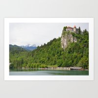 Lake Bled Castle Art Print