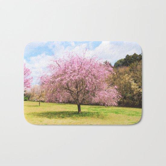 Beautiful cherry blossoms Bath Mat