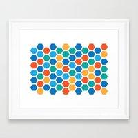 hexagon Framed Art Prints featuring Hexagon by Danielle Arrington