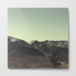 here on the mountain, the air is clear  Metal Print