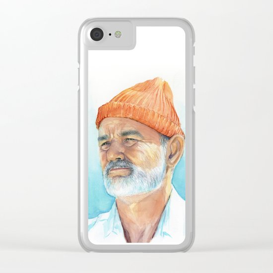 Bill Murray as Steve Zissou Portrait Art Clear iPhone Case