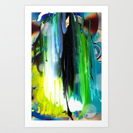 BLUEFIRE Art Print